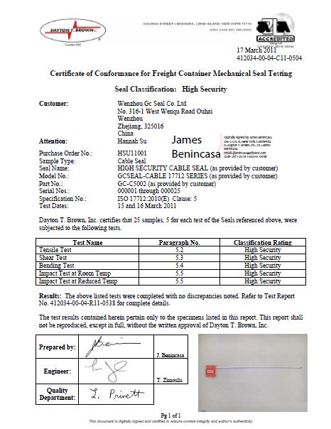 GC-C5002 ISO 17712