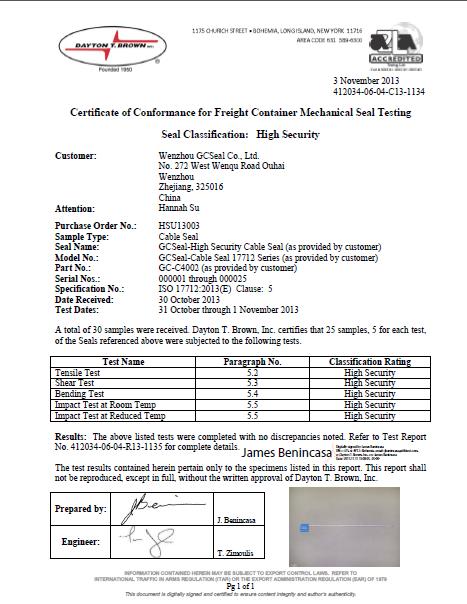 GC-C4002 ISO 17712