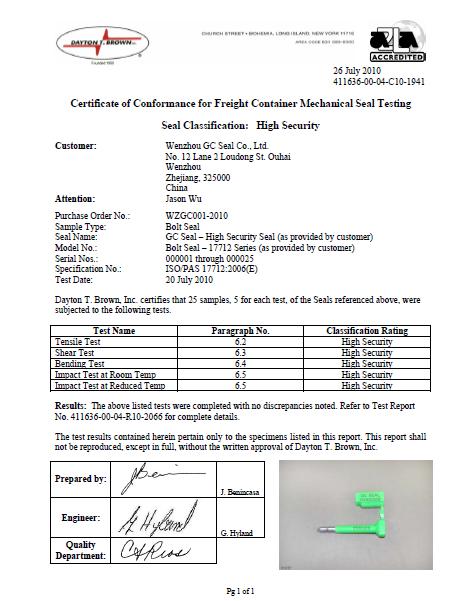 GC-B010 ISO 17712
